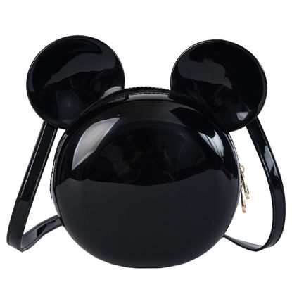 Picture of Women's Crossbody Bag Fashion Solid Color Mickey Shape Bag