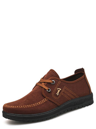 Picture of Men's Casual Oxfords Comfy Round Toe Lacing-up Shoes