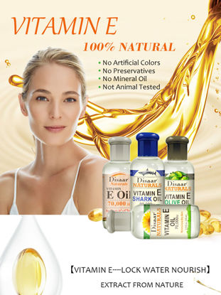 صورة 4 Pcs Vitamin E Oil Nourish Lifting Face Essence Oil Anti-wrinkle Firming Skin Serum