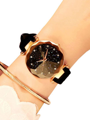 Picture of Women's Fashion Watch Starry Star Dial PU Strap All Match Watch Accessory