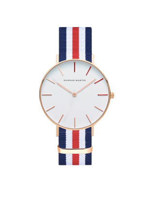 Picture of Hannah Martin Men's Quartz Watch Nylon Fashion Design Lovers Casual Trendy Watch Accessory
