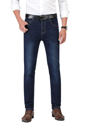 Picture of Men's Jeans Casual Solid Color Full Length Jeans