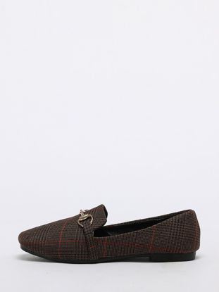 صورة Women's Flats Plaid Square Toe Casual Womens Shoes