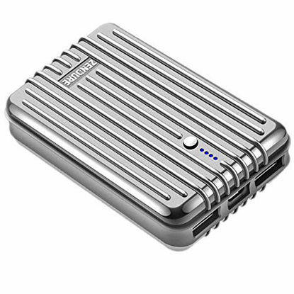 Picture of Zendure A3 Portable Charger 10000mAh  – Ultra-Durable 10000mAh External Battery Power Bank for Phone, iPad, Android and More, PC Advisor Winner 2014-2017 – Silver