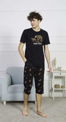 صورة ENKI MEN COTTON BLACK CAPRI SET