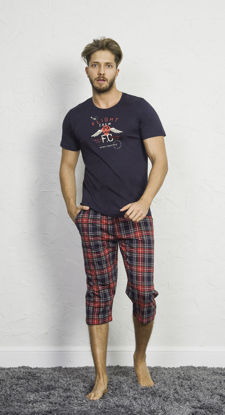 صورة ENKI MEN COTTON DRESS BLUES CAPRI SET