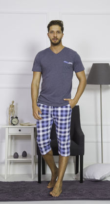 صورة ENKI MEN COTTON ANTHRACİTE CAPRI SET
