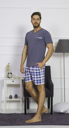 صورة ENKI MEN COTTON ANTHRACİTE SHORTS SET