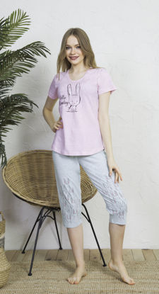 صورة ENKI WOMEN COTTON ROSEBLOOM CAPRI SET