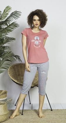 صورة ENKI WOMEN COTTON COTTONPINK CAPRI SET