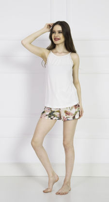 صورة ENKI WOMEN VISCON BRIGHT WHITE SHORTS SET