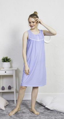 صورة ENKI WOMEN COTTON BLUE TUNIC SET