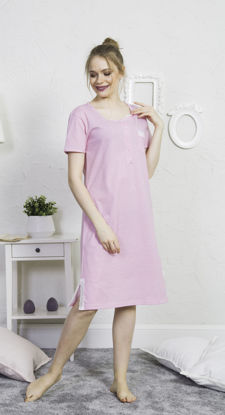 صورة ENKI WOMEN COTTON FUCHSIA TUNIC SET