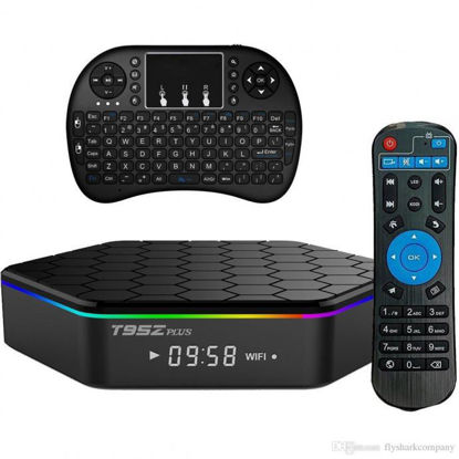 صورة T95Z Plus S912 Octa-core CPU Android 6.0 TV Box 2GB/16GB With Mini i8 Wireless Keyboard Touchpad