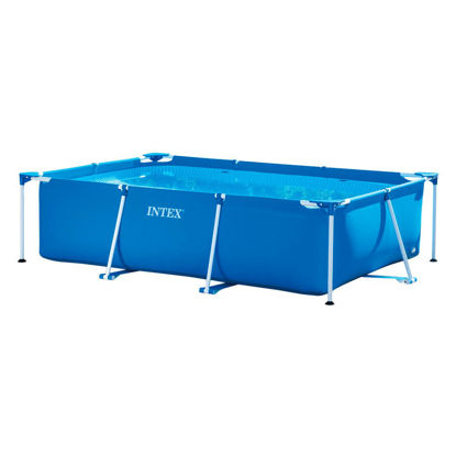 Picture of Intex 28272 Metal Frame Rectangular Pool without Filter Pump, 3834 L, Blue, 300 x 200 x 75 cm