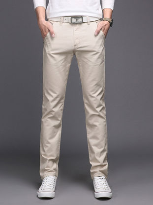 Picture of Men's Straight Leg Pants Solid Color Breathable Comfy Casual Pants  33