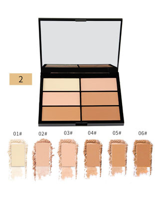 صورة Magical Halo 6 Colors Contour Palette Smooth Perfect 3D Face Makeup