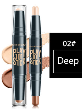 صورة Kiss Beauty Contour Pen Stereo Double Head Highlight Shadow Repairing Waterproof Makeup