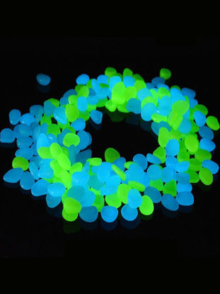 Picture of Aumret 200 Pcs Luminous Stones Set Simulation Colored Decorative Displays