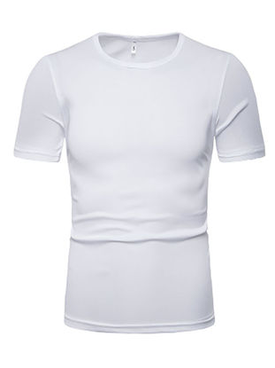 صورة Men's T Shirt Solid Color Short Sleeve Casual O Neck Top
