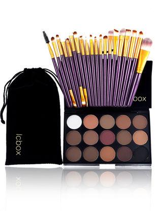 صورة Smooth Eyeshadow Plate With High Quality Brush Sets