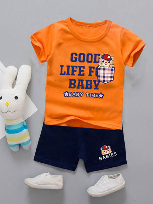 صورة Shorts Set For Baby Boy Short Sleeve O Neck T Shirt Baby Clothes