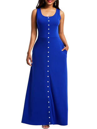 صورة Women's Dress Sleeveless Solid Color Maxi Long Dress