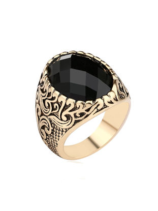Picture of Men's Ring Carving Exquisite Leisure Vintage Comfy Jewelry Accessory