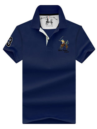 صورة Men's Polo Shirt Short Sleeve Turn Down Collar Stylish Top
