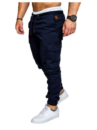 صورة Men's Cargo Pants Pocket Drawstring Waist Fashion Trousers