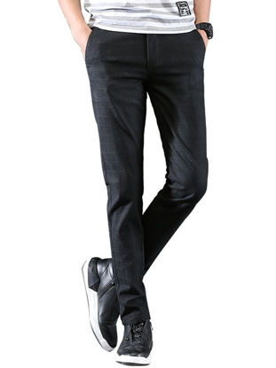 Picture of Men's Casual Pants Solid Color Skin-Friendly Plus Size Stylish All Match Breathable Pants
