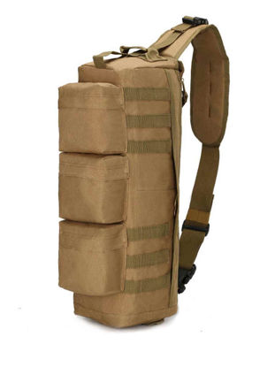 صورة Outdoor Duffel Bag Camouflage Pattern Color Block Durable Climbing Bag