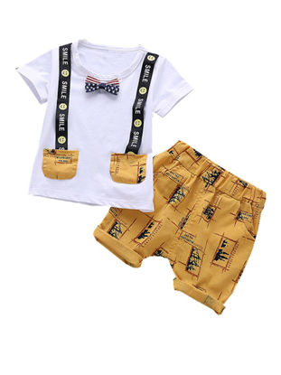 صورة 2Pcs Baby's Clothes Set Voguish Cartoon Comfy Short Sleeve T Shirt Pants Set