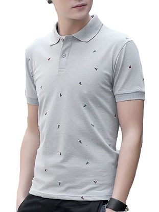 صورة Men's Polo Shirt Embroidery Breathable Slim Fashion Top