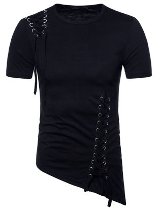صورة Men's T-Shirt Personality Breathable Trendy Plus Size Classic Tee