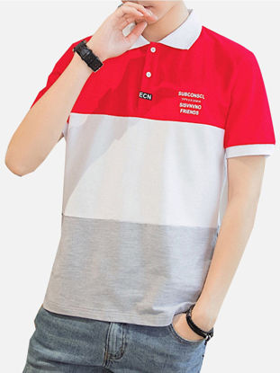 صورة Men's Polo Shirt Fashion Wearable Short Sleeve Top