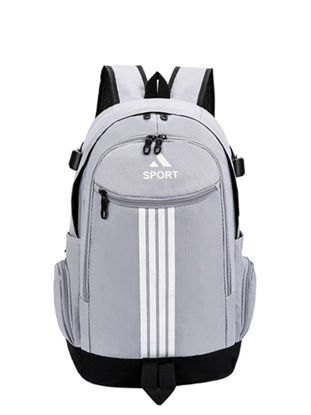 صورة Sports Backpack Large Capacity Striped Outdoor Travel Bag