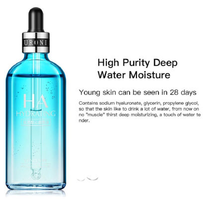 صورة 1Pc 100ML Hyaluronic Acid Moisturizing Liquid Essence Skin Care Anti Wrinkle Nourish Refresh Non-Greasy Facial Serum