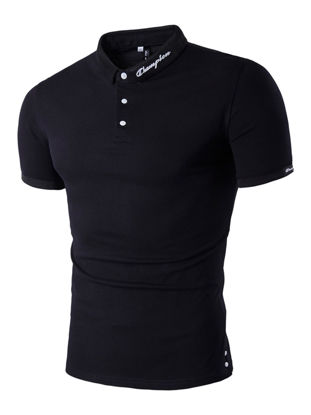 صورة Men's Polo Shirt Solid Color Stylish Comfy Slim Polo Shirt