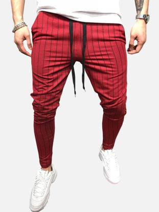 Picture of Men's Casual Pants Fashion Loose Striped Pants