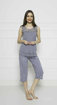 Picture of ENKI WOMEN COTTON TRADEWINDS CAPRI SET
