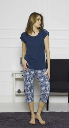 Picture of ENKI WOMEN VISCON SAPPHIRE CAPRI SET