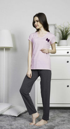 Picture of ENKI WOMEN COTTON ROSEBLOOM PAJAMA SET
