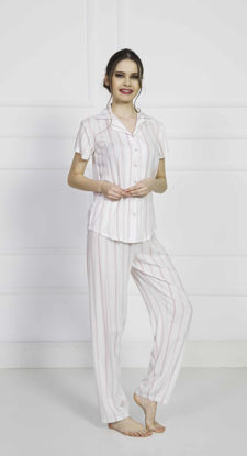 Picture of ENKI WOMEN VISCON WHITE PAJAMA SET