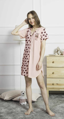 Picture of ENKI WOMEN COTTON SOFT PINK TUNIC SET