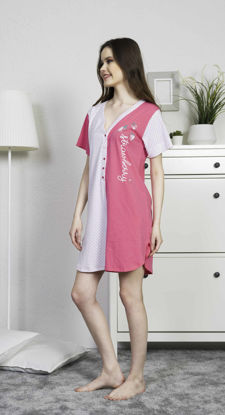 Picture of ENKI WOMEN COTTON FUCHSIA TUNIC SET