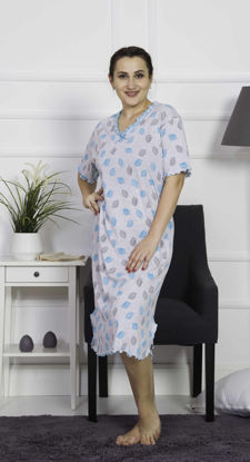 Picture of ENKI WOMEN XXL COTTON TURQUOISE TUNIC SET