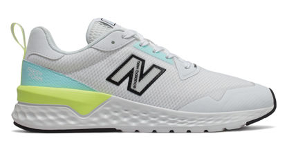 Picture of NB Lifestyle Womens Shoes - WS515RC2 (White with Bali Blue & Lemon Slush)