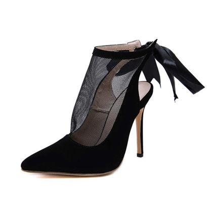 Picture of Women's High Heel Sandals Hollow Design Closed Toe Thin Heel Elegant Shoes