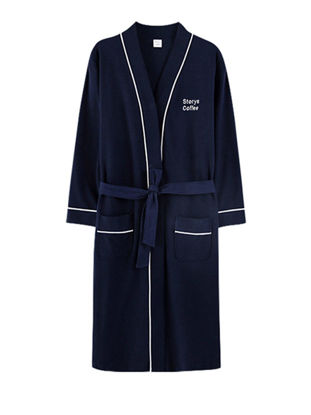 Picture of Couple's Pajamas Long Sleeve Breathable Home Robe Sleepwear